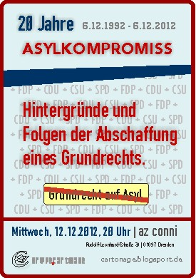 Ankündigung \'25 Jahre Asylkompromiss\'