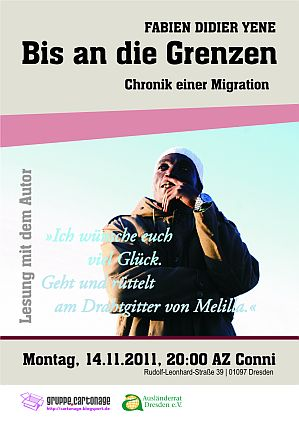Flyer zur vokü.cartonage am 14. November 2011