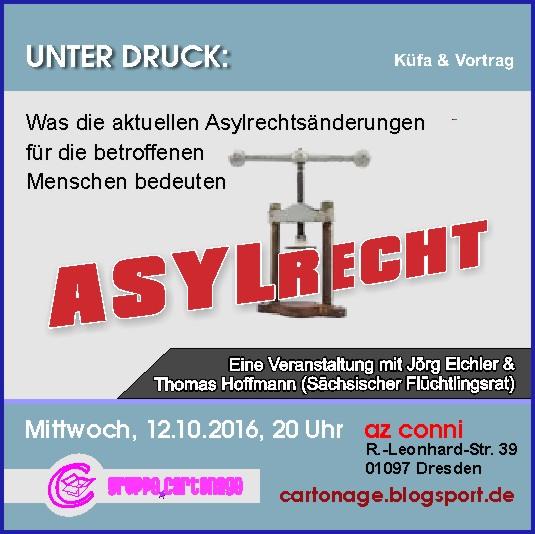 cartonage-Veranstaltung \'Unter Druck\' am 12. Oktober 2016 im AZ Conni