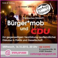 Oktober 15 CDU u Bürger*mob