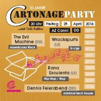 Flyer 10 Jahre cartonage party Vorderseite